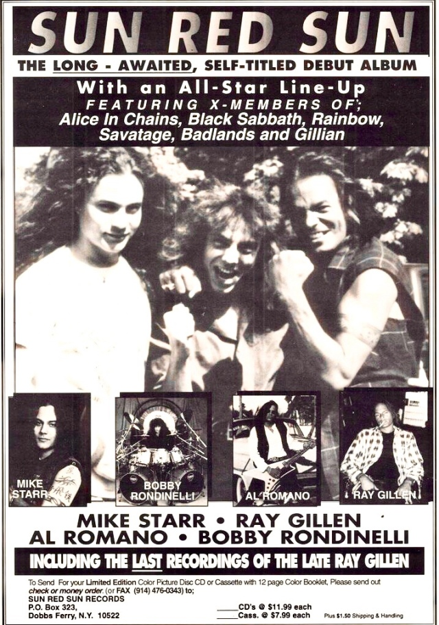 Promotion for Red Sun Red with Mike Starr, Ray Gillen, & Al Romano