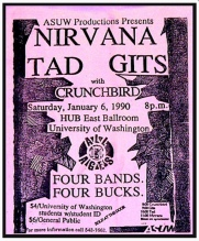 The Gits with Nirvana and Tad at UW 1/6/1990