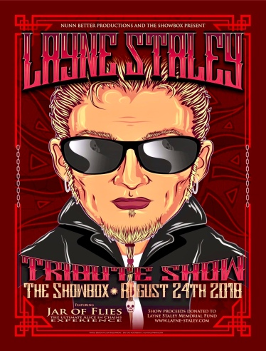Layne Staley Tribute Poster Designed by Cain Hollowbone of Day and Age Design